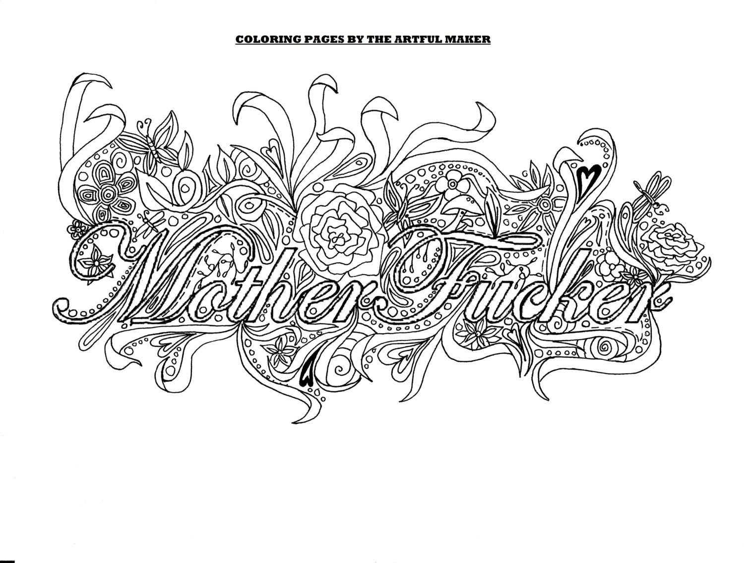 Motherfucker Adult Coloring Page