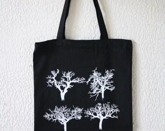 tree silkscreen tote bag