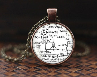 Math Equation necklace, Mathematical formulas, Quantum physics, Science Jewelry, Math Equation, Equations, men's necklace