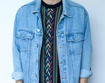 Vintage 90's Scandi Style Denim Jacket