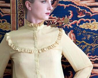 Vintage 70's Mustard Sheer Shirt