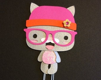 Cute Little Kitty Cat Glasses Planner Clip