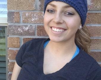 Blue Knit headband