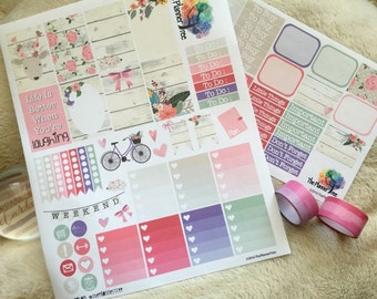 RUSTIC FLORALS || Planner Sticker Printable Kit with Silhouette Cut Files [Please Request]