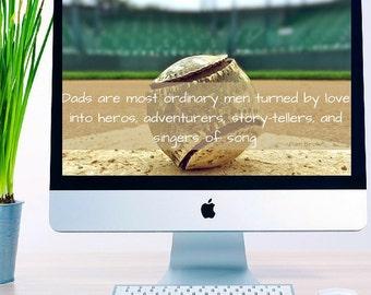 "Dad's Are"" Quote Computer Desktop Background Wallpaper"