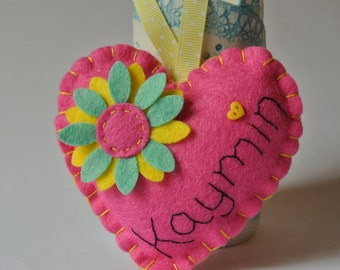Personalized Hearts - perfect for a gift to a teacher