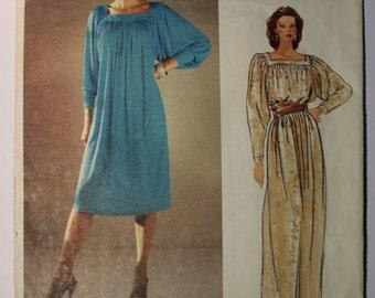 1970's Vogue American Designer Dress Pattern by Diane Von Furstenberg - Sizes 14 & 16