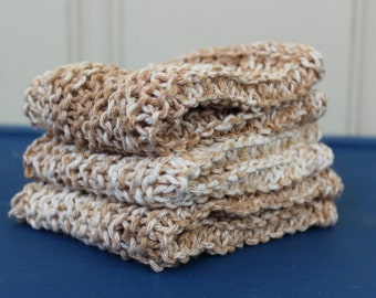 Cotton Wash Cloths in Neutral Splash - 3 pack - Ready to Ship