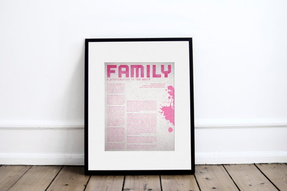 FAMILY PROCLAMATION - SPLASH // 11 X 14 // instant download