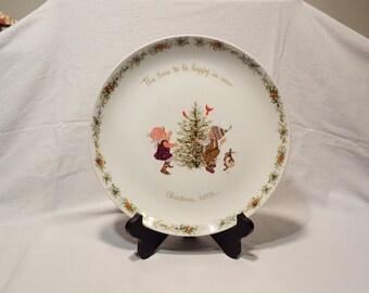 1973 Holly Hobbie Christmas Plate