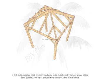 Items similar to diy plans on how to build your own tiki for A frame hut plans