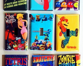 Retro Video Game Nintendo  Themed Switch Plate and Outlet Plate Covers