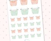 Cute typewriters planner stickers - kawaii Blogger - post blog - 26 kawaii cute pastel typewriter planner  stickers