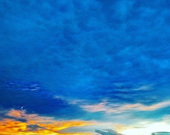 Cobalt Blue Sky Photography Horizons Sunset Designs LinkArtPhotography Instant Download