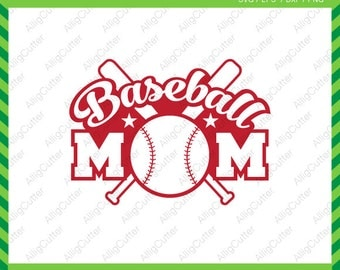 Baseball Mom ball Frame SVG DXF PNG eps softball sport Cut Files for Cricut Design, Silhouette studio, Sure Cuts A Lot, Makes the cut