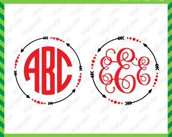 Circle Arrows Frames SVG DXF PNG eps Cut Files for Cricut Design, Silhouette studio, Sure Cuts A Lot, Makes the cut