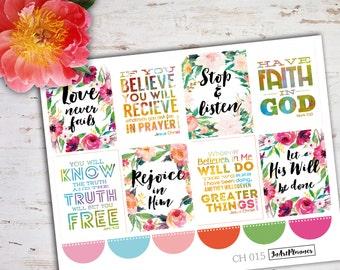 Christian stickers, bible verse, bible stickers, planner stickers, devotional stickers, filofax stickers, erin condren stickers СH 16