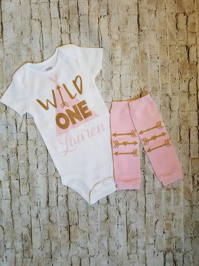 Baby Girl Clothes Wild One Outfit By TrendiestTotsInTown On Etsy
