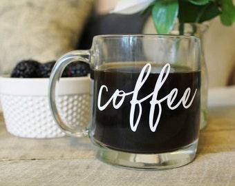 Coffee Mug, Glass Coffee Mug, Glass Mug, Coffee