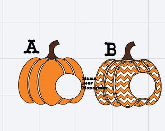 2 SVG Chevron Pumpkin Cutting Files Instant Download--SVG Only