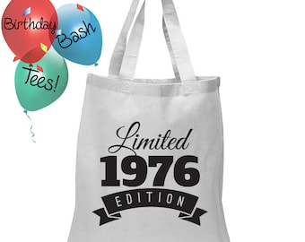 Birthday Gift Tote Bag Limited Edition 1976 Birthday 41 Year Old Birthday Celebration Special Gift for Loved One Gift Bag for Birthday 1976