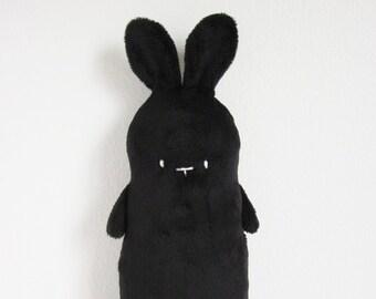 Bunny Rabbit Plush, Black, Stuffed Bunny, Plush Rabbit, Small Soft Toy Animal Doll, Handmade Gift