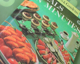 Vintage Cookbook ~ Better Homes and Gardens ~ Meals in Minutes ~ Retro Cookbook ~ Quick Cooking