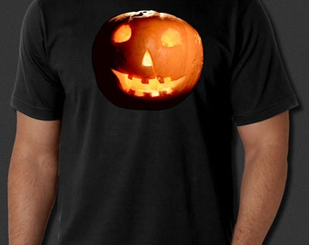 Halloween Pumpkin Michael Myers Jack O'lantern Costume Black T-shirt S-6xl