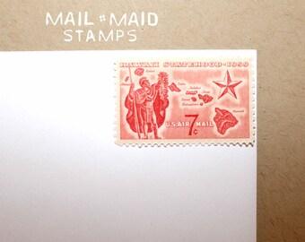 Hawaii Statehood || Set of 10 unused vintage stamps
