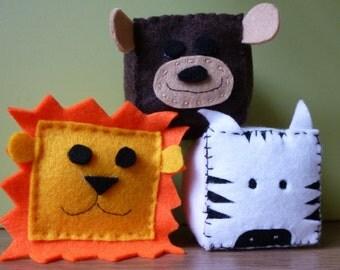 Felt Zoo Animal Cubes