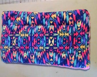 "16"" x 23"" Aztec fleece crate pad, kennel mat, pet cushion, pet mat, pet bedding."