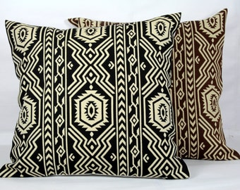 Geometric throw pillows 26x26 pillow 16x16 pillow  18x18 pillow cover brown beige 20x20 outdoor pillows cases 24x24 pillow cover beige black
