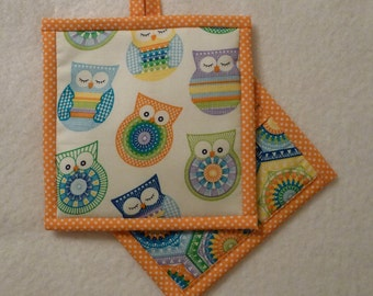 Owl Pot Holder, Owl Hot Pad, Owl Potholder