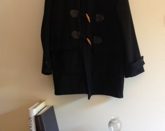 Vintage Wool Black duffle coat 90s