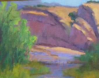 Summer Light -  Original Oil 0n Canvas - 8hx10w, unframed