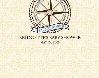 Baby on Board Custom Baby Shower Backdrop / Banner / Decor (KID-VS-035)