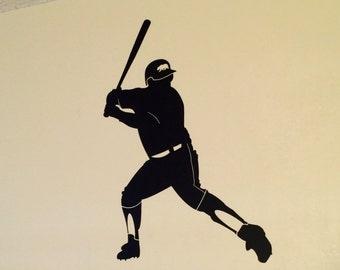 Baseball Batter wall decal