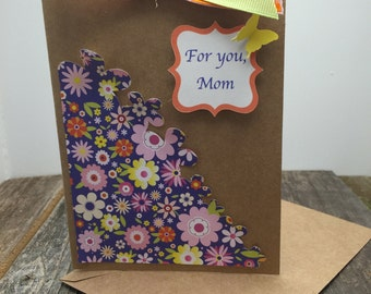 Mother's Day Card, Card for Mom, Spring Floral, Mom Card, Card for Mom, Mother's Day, Birthday Card for Mom, For Mom, Mom