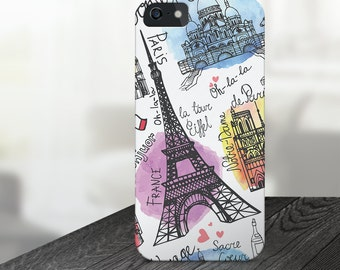 Paris iphone Case, iPhone 5 Case, iPhone 5C Case, iPhone 6 Case, iPhone 6s Case, iPhone 6 Plus Case, Gift for Her France iphone Galaxy S6