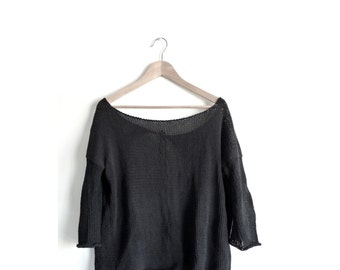 Open pull back, long sleeves, round neck, cotton, TAM