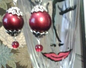 Chunky Red Earrings