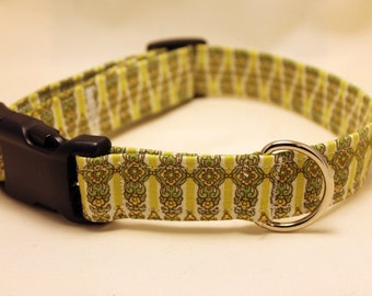 Green on Green Oriental Design Collar