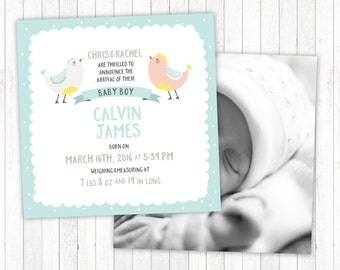 Birth Announcement for Baby Boy