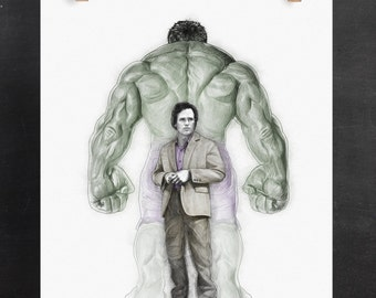 The Hulk Art Print: Bruce Banner (Marvel Inspired Digital Sketch)
