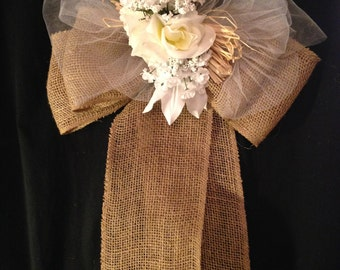 Burlap Bow for chair decoration