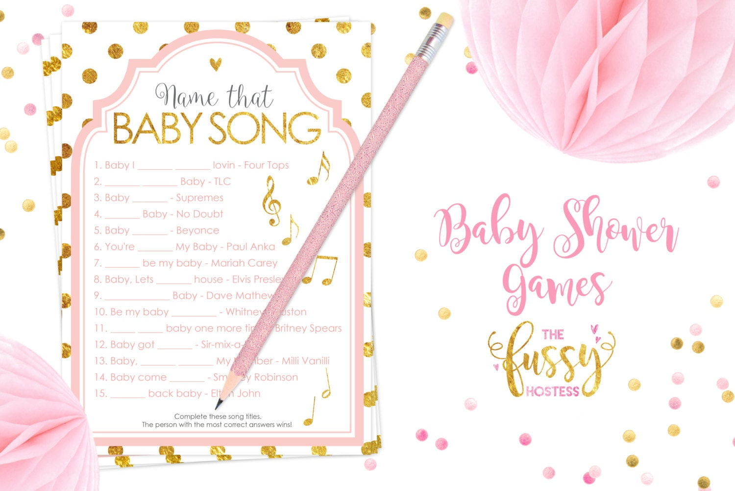 name that song baby shower games baby shower game printable