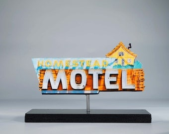 Homestead Motel Neon sign photo / vintage motel sign / vintage neon sign / retro decor / mid century modern / neon cutout /neon reproduction