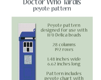 Doctor Who Tardis Peyote Pattern