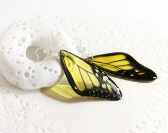Sister gift yellow butterfly earrings for women gift for girlfriend gift summer jewelry Butterfly wing earrings for birthday gift for sister