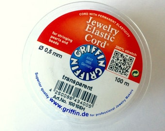 Griffin Elastic Cord ~ .5mm ~ 100 Meters ~ Great for Jewelry Making!